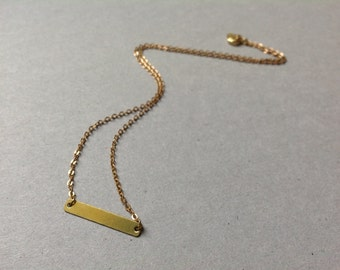 Brass Bar Connector Necklace