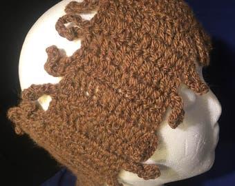 Alpaca Headband. Loopy Hand Crocheted