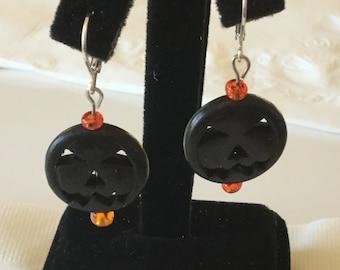 Jack-o-lantern earrings-small