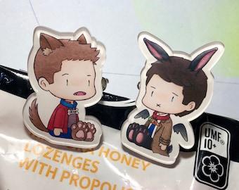 Supernatural Destiel Dean and Castiel clip with pin