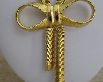 GOLD BOW SNAKE Necklace 1940s