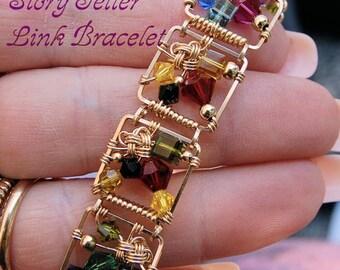 DIY Bracelet, Link Bracelet Pattern, Story Teller Link Bracelet, Wire Wrap Jewelry Bracelet Tutorial, How To Wire Wrap Bacelets, Instruction
