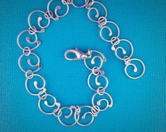 Mini Swirl Sterling Silver Bracelet