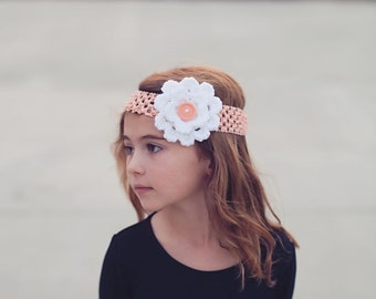 Crochet flower 3d Flower Headband
