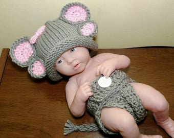 Newborn crochet outfit, Newborn Elephant Outfit, Newborn photo prop, baby girl outfit, Elephant hat, Elephant outfit, crochet newborn outfit