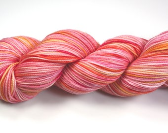 Smitten-- 2Ply Merino/nylon hand dyed sock yarn (400yds/100gm)