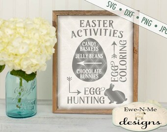 Easter SVG - You Personalize with Your Family Name - Easter Activities SVG - Easter Subway Directional SVG Commercial Use svg dxf, png, jpg