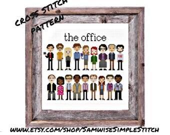 The Office cast line up cross stitch PATTERN