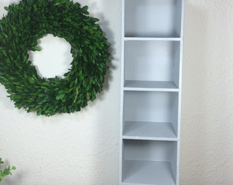 Wood Gray Display Cubby *FREE SHIPPING* Gray Shabby Chic Display Stand