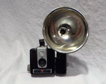 Kodak Brownie Hawkeye Camera, Kodalite Flasholder, Vintage Retro Photography Salvage