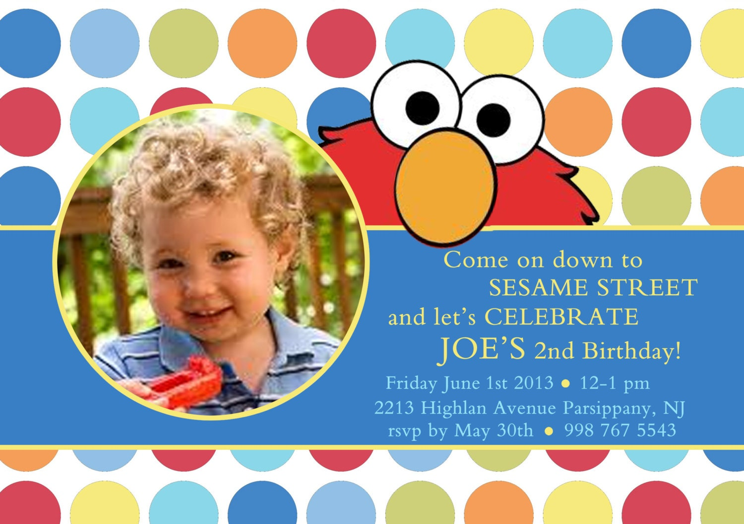 Elmo Birthday Invitation Boy Elmo Invitation Elmo Birthday