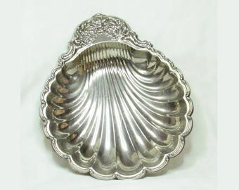 Vintage Serving Shell Tray - Metal - 36 cm