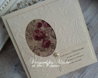 Sympathy Card, Thinking Of You,  Encouragement, Condolence,  Personalized, So Sorry