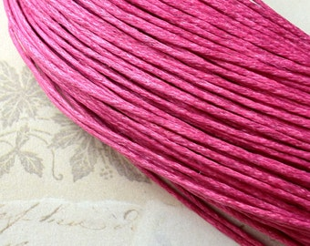 0.8 mm Hot Pink Colour Waxed Cotton Cord (.mcc)