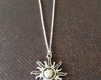 Sun Necklace - Sun Jewelry - Sun Pendant - Sunshine Necklace - Sunshine Birthday - Ray of Sunshine - Silver Necklace - Silver Jewelry - Gift