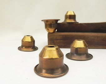 5 Vintage Brass Lamp Chandelier Wall Sconce Socket Covers Cups Spacer LAMP PARTs