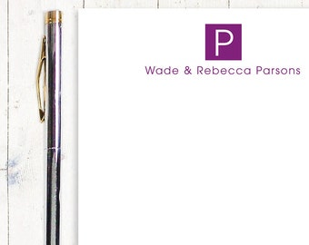 personalized notePAD - SQUARE MONOGRAM - stationery - monogram stationary - monogrammed notepad