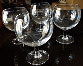 "Four 1980s Tiffany & Co. ""Refresher"" Goblets / Snifters--5-1/4"" High x 3-3/4"" Diameter at Rim--Divine, Delicate--Wonderful Condition"