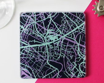 Map Coasters set of 4