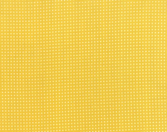 Yellow Lotsa Dots fabric from the SimplyColorful collection by V and Co for Moda Fabrics