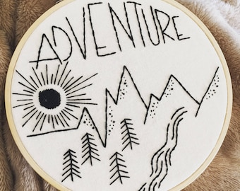 Adventure hand embroidery