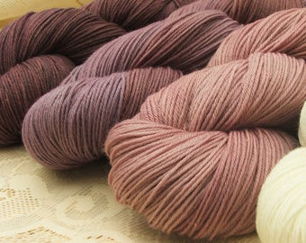 Superwash Merino Wool 4 ply Sport Weight Hand Dyed Knitting Yarn 50gms UK Seller