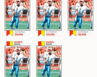 5 - 1993 SCD #21 Warren Moon Football Card Lot Houston Oilers
