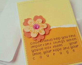 Sewn Handmade Friendship Card