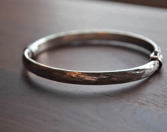 Vintage Sterling Silver Italian Thin Simple Classic Bangle Bracelet
