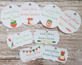Christmas Baked Goods Tags, Christmas Tags, Baked with Love, From My Kitchen to Yours, Home Baked, Baked Goods Gift Tag, Food Tags, Jar Tag