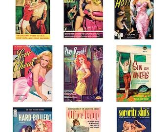 Pulp Art Stickers Theme 'Best of 9' Set - BAD GIRLS