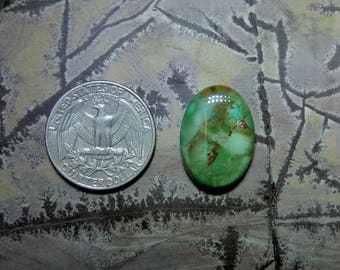 Turquoise cabochon, Emerald Valley turquoise, American turquoise, handmade cabochon, Jewelry Supplies, Jewelry accessories, made in the USA