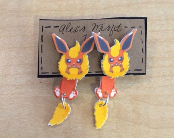 Flareon clinging faux gauge earring