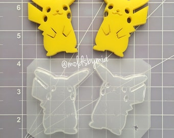 ON SALE Detailed  Pika flexible plastic resin mold set ~ 2 cavity