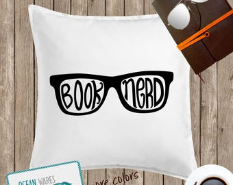 Book Nerd throw pillow, Reading Pillow, Book Lover, Reading Throw Pillow, Gift for her