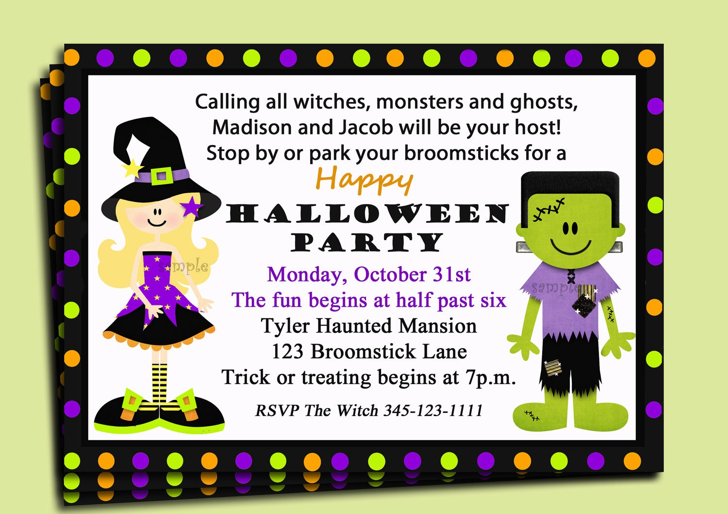 Halloween party invitation printable siblings you pick zoom stopboris Gallery