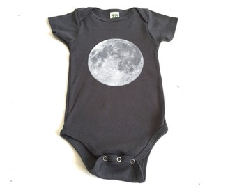 baby MOON t-shirt infant child ORGANIC onesie bodysuit