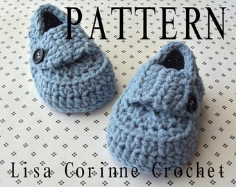 Baby Booties Crochet PATTERN, Baby Loafers, Crochet Booties PATTERN, Crochet Baby Shoes, Crochet Baby Booties