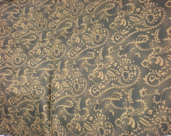 "Quilting cotton brown on brown 1 3/4 yards 42""wide Fabric"