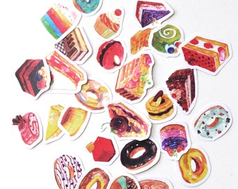Doughnuts stickers set/ Planner Stickers/ Filofax Stickers/Lap top stickers/Scrapbook Sticker/OS049