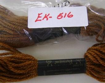 Yarn, Paragon, 100% Wool Crewel Needlepoint, Color #410 Raw Sienna Brown, 8.8 Yd