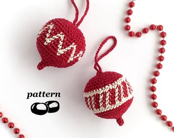 Crochet Christmas Ornament Pattern / Christmas Crochet Pattern / Holiday Ornament Decorations Christmas Tree Twig Tree
