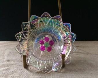 GLASS GARDEN FLOWER / Glass garden yard art / Glass flower / Glass garden stake / Glass garden totem / Glass garden flower décor/(48)