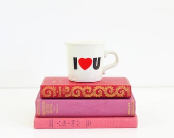 Vintage Love Mug / I Love You Coffee Mug / Vintage Coffee Mug / Taylor International I Heart U Mug / Kitschy Coffee Mug / Retro Coffee Mug