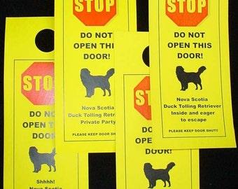Nova Scotia Duck Tolling Dog's Friendly Alternative to Beware of Dog Signs