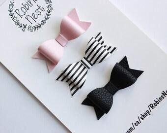 KAY Bow - Pink&Black