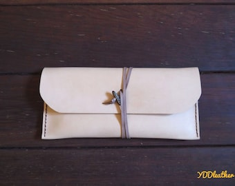 Leather pouch wallet, Leather pencil case, Leather makeup pouch, Leather stationery, Leather clutch, Leather phone case, Kangaroo leather