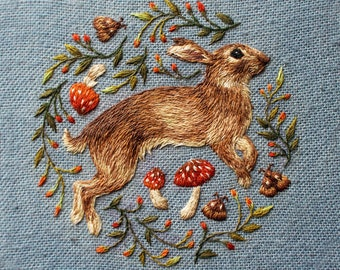Jumping Rabbit Print