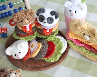 Amigurumi Food : Crochet pattern amigurumi food bento family crochet pattern