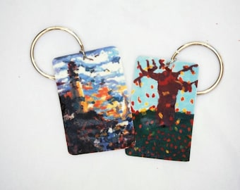 key-chains from original paintings